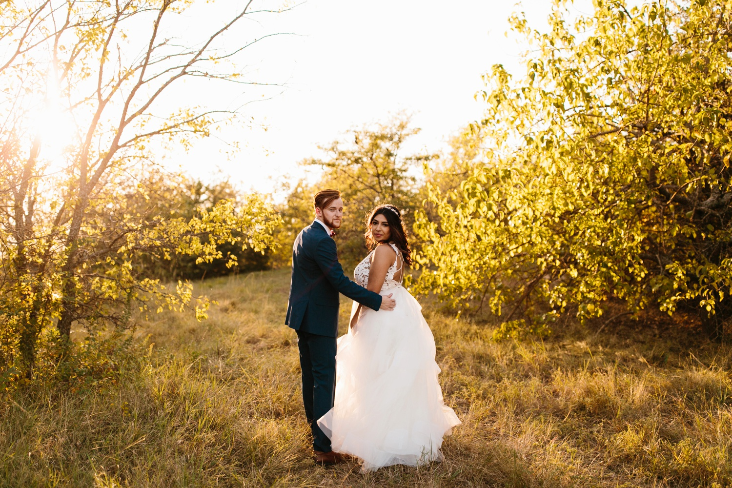 Grant + Lysette | a vibrant, deep burgundy and navy, and mixed metals wedding at Hidden Pines Chapel by North Texas Wedding Photographer Rachel Meagan Photography 220
