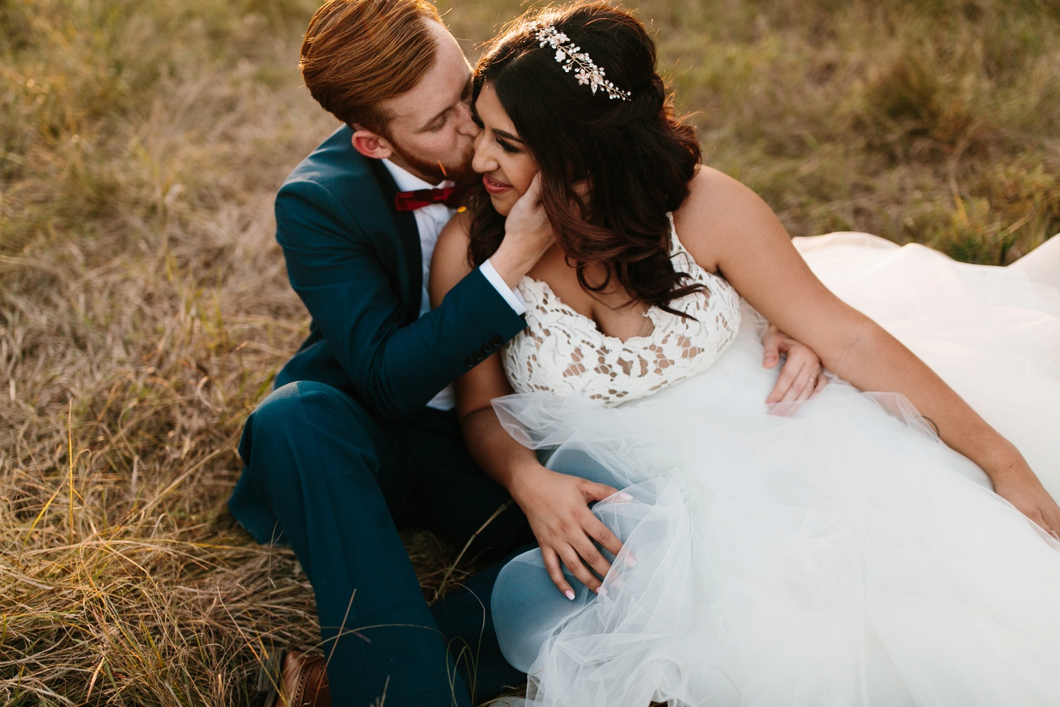 Grant + Lysette | a vibrant, deep burgundy and navy, and mixed metals wedding at Hidden Pines Chapel by North Texas Wedding Photographer Rachel Meagan Photography 231