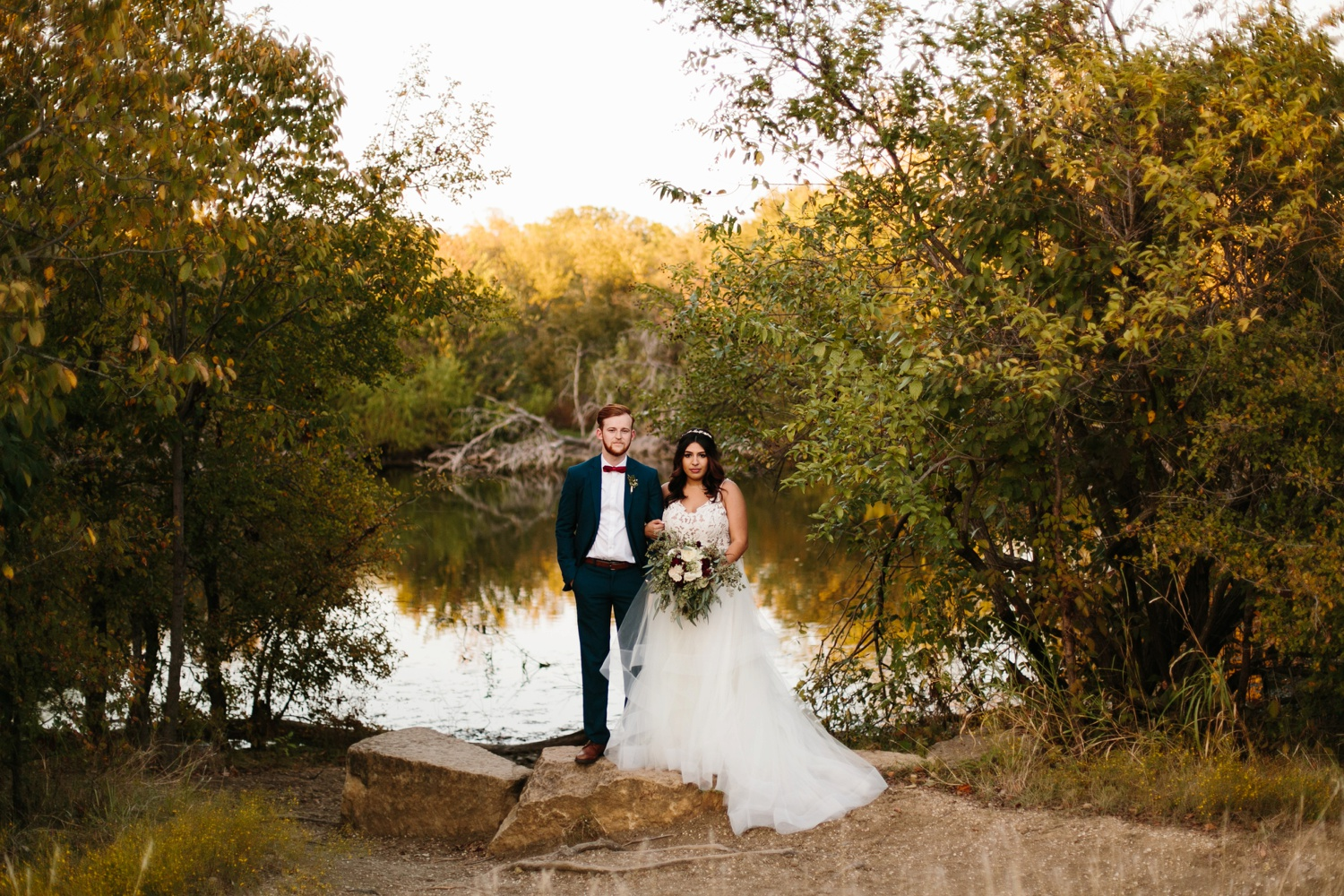 Grant + Lysette | a vibrant, deep burgundy and navy, and mixed metals wedding at Hidden Pines Chapel by North Texas Wedding Photographer Rachel Meagan Photography 243