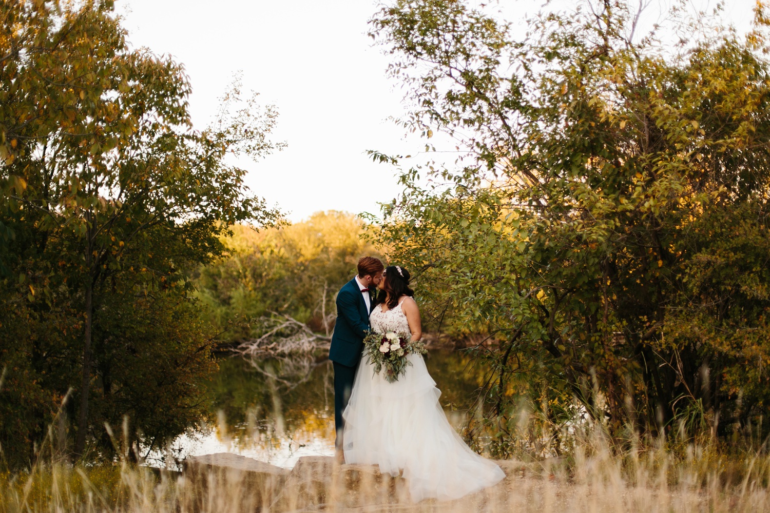 Grant + Lysette | a vibrant, deep burgundy and navy, and mixed metals wedding at Hidden Pines Chapel by North Texas Wedding Photographer Rachel Meagan Photography 245