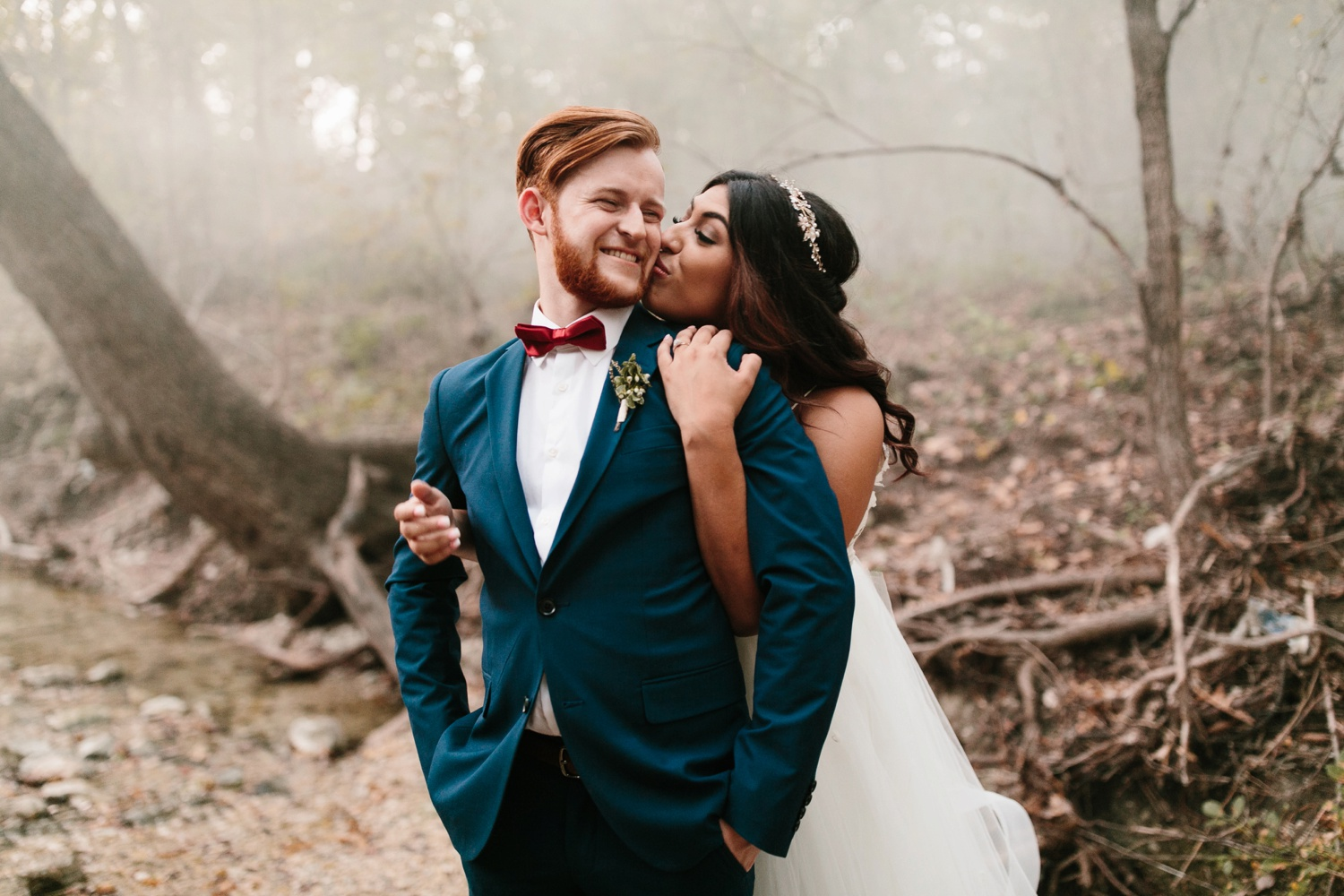 Grant + Lysette | a vibrant, deep burgundy and navy, and mixed metals wedding at Hidden Pines Chapel by North Texas Wedding Photographer Rachel Meagan Photography 259