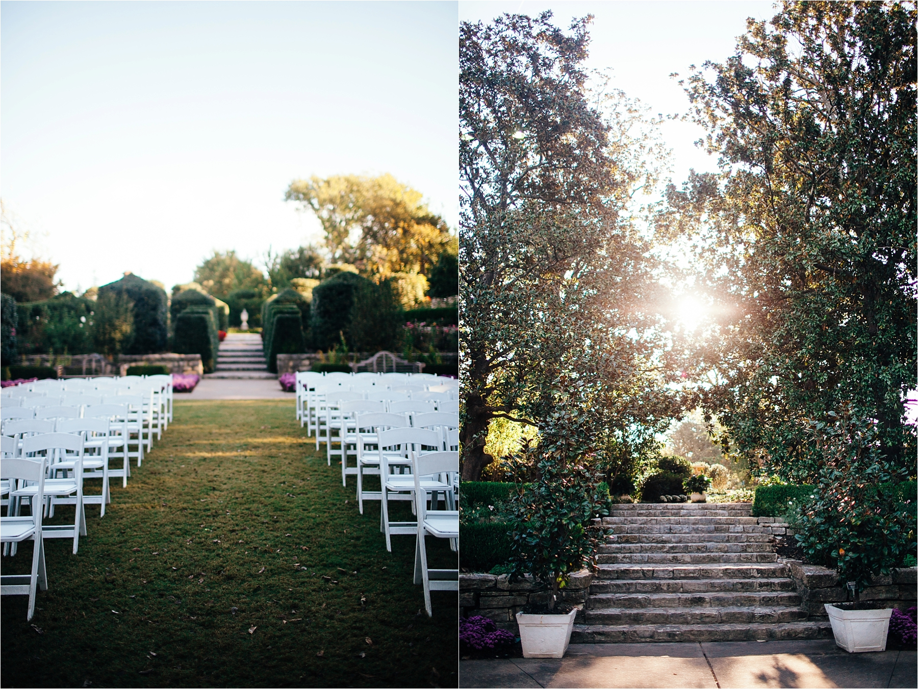Small Intimate Wedding At The Sunken Gardens Dallas Arboretum North Texas Photographer